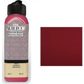 Artdeco Akrilik Boya 140 Ml Bordo