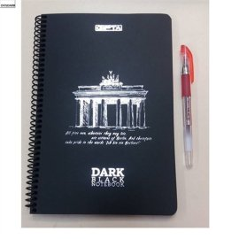Dark Bkack Notebook Defter