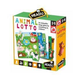 Headu Anımal Lotto Montessori Puzzle Oyunu 22847